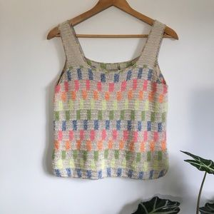 Hand Knit Sleeveless Top